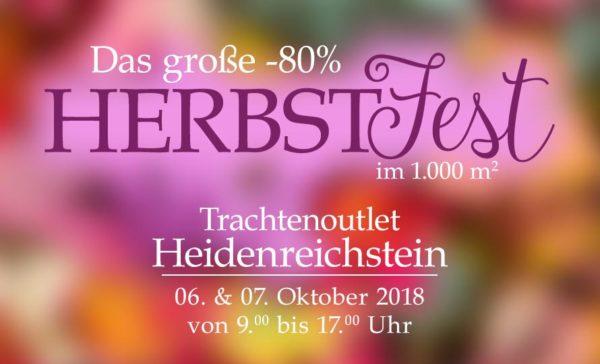 Original Salzburger Trachtenoutlet Heidenreichstein Herbstfest 2018