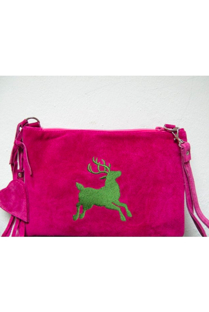 Lederclutch pink
