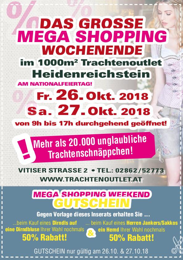 Mega Shopping Wochenende Trachtenoutlet Heidenreichstein